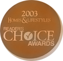 2003 home and life styles readers choice awards winner logo